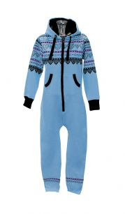 Unisex Adult Printed Onesie with Hood